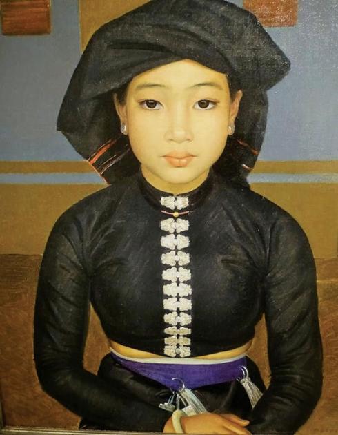 """Tranh """"Thiếu nữ Thái đen""""."""